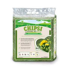 Chipsi Sunshine BIO Hay with Dandelion is an Organic Mountain Meadow Hay with aromatic Organic Dandelion. Supports digestion and gut flora.