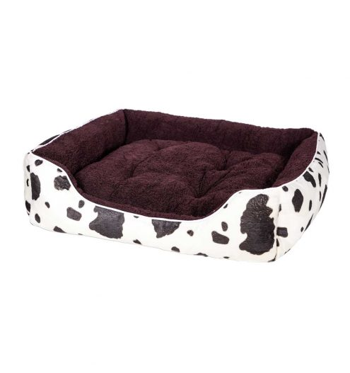 Fluffy Pet Bed – Cow Print, Paws & Claws Pets