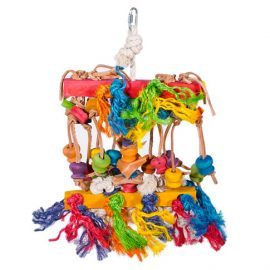 Hanging Bird Toy Knots 'n' Knobs allows them to entertain themselves while keeping their beak in tip top shape!