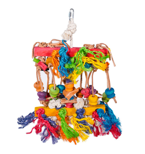 Hanging Bird Toy Knots 'n' Knobs, Paws & Claws Pets