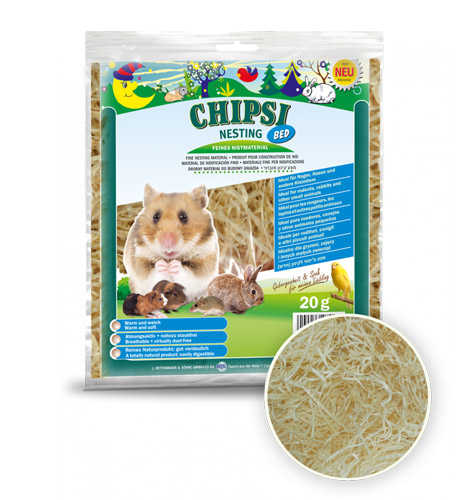 Chipsi Nesting Bed 20g, Paws & Claws Pets