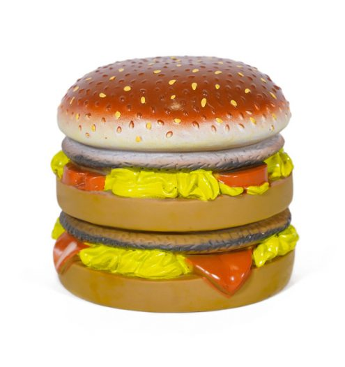 Rubber Burger Dog Toy, Paws & Claws Pets