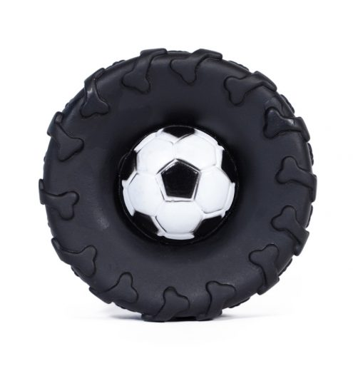 Tyre and Football Combo Dog Toy, Paws & Claws Pets