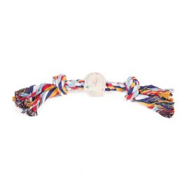 Cotton Rope N Ball Dog Toy will provide your dog with physical and mental stimulation