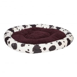 Fluffy Cow Print Pet Bed is perfect for a pet with style