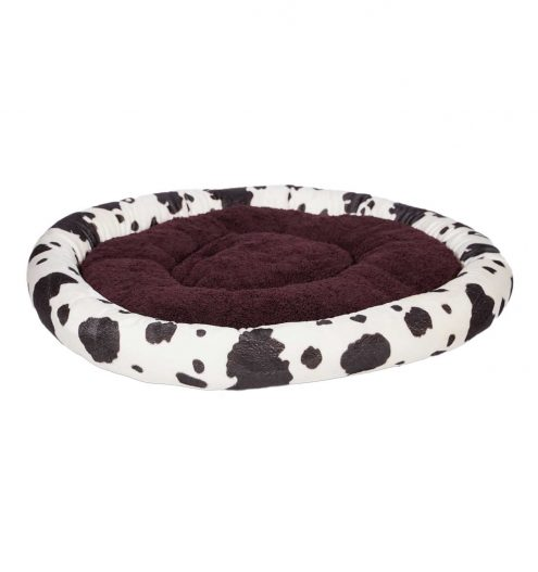 Fluffy Cow Print Pet Bed, Paws & Claws Pets