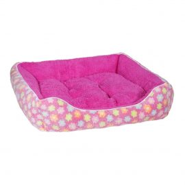Fluffy Pink Floral Pet Bed suitable for cats as well as small to medium sized dogs