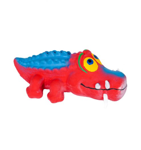 Red Alligator Chew Toy, Paws & Claws Pets