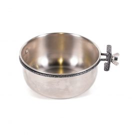 Stainless Steel Travel Bowl for crates and carry box. SS pet bowl