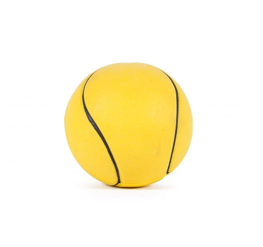 Yellow Rubber Tennis Ball Dog Toy, Paws & Claws Pets